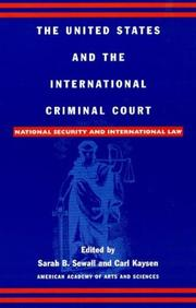 Cover of: The United States and the International Criminal Court