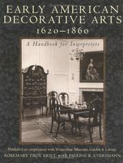 Cover of: Early American Decorative Arts, 1620-1860
