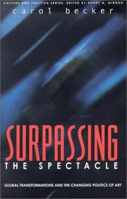 Cover of: Surpassing the Spectacle