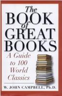 Cover of: The book of great books