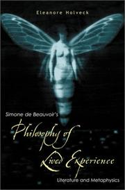 Cover of: Simone de Beauvoir's Philosophy of Lived Experience