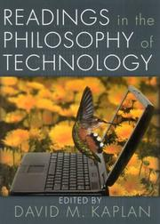 Cover of: Readings in the philosophy of technology |