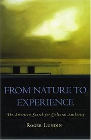 Cover of: From Nature to Experience