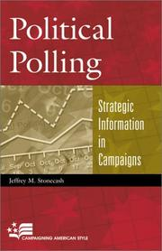 Political polling by Jeffrey M. Stonecash