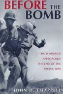 Cover of: Before the bomb