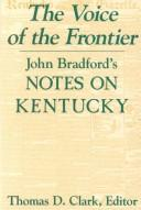 Cover of: The voice of the frontier