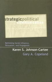 Cover of: Strategic Political Communication