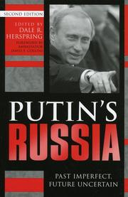 Cover of: Putin's Russia