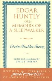 Cover of: Edgar Huntly | Charles Brockden Brown