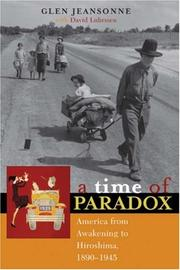 Cover of: A Time of Paradox | Glen Jeansonne
