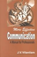 Cover of: More effective communication