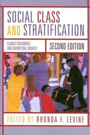 Cover of: Social Class and Stratification | Rhonda Levine