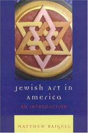 Cover of: Jewish Art in America | Matthew Baigell