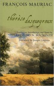 Cover of: Therese Desqueyroux (Sheed & Ward Book) | François Mauriac