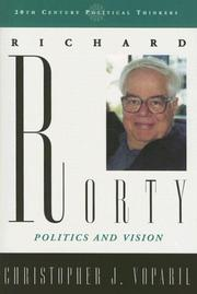 Cover of: Richard Rorty