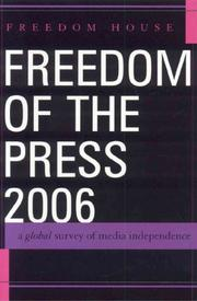 Cover of: Freedom of the Press 2006