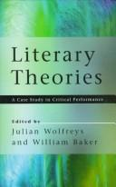 Cover of: Literary theories |