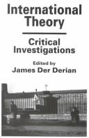 Cover of: International Theory | James D. Derian