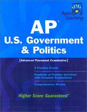 Cover of: Apex AP U.S. Government & Politics (Apex Learning)