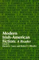 Cover of: Modern Irish-American Fiction | Daniel J. Casey
