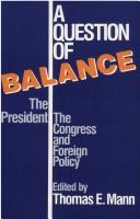 Cover of: A Question of Balance