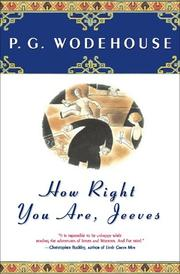 Cover of: How right you are, Jeeves