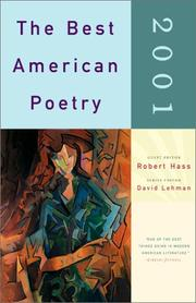 Cover of: The Best American Poetry 2001