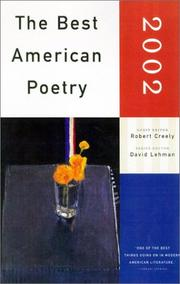 Cover of: The Best American Poetry 2002