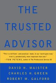 Cover of: The Trusted Advisor