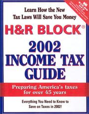 Cover of: H & R Block 2002 Income Tax Guide