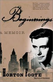 Cover of: Beginnings | Horton Foote