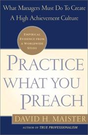 Cover of: Practice What You Preach!