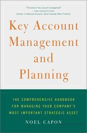 Cover of: Key Account Management and Planning