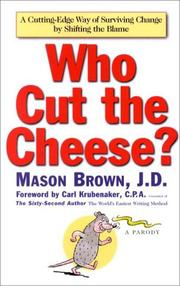 Cover of: Who cut the cheese? | Mason Brown