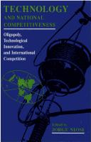 Cover of: Technology and National Competitiveness: Oligopoly, Technological Innovation, and International Competition
