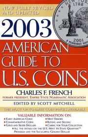 Cover of: 2003 American Guide to U.S. Coins | Charles French