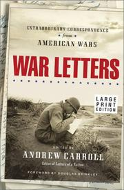 Cover of: War Letters | Andrew Carroll