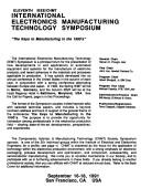Cover of: Eleventh IEEE/CHMT International Electronics Manufacturing Technology Symposium | IEEE/CHMT International Electronic Manufacturing Technology Symposium. (11th 1991 San Francisco, Calif.)