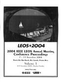 Cover of: Leos 2004: 2004 IEEE Leos Annual Meeting: Conference Proceedings | IEEE Xplore