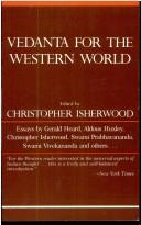 Cover of: Vedanta for the Western world