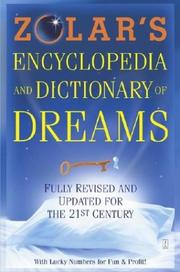 Zolar's encyclopedia and dictionary of dreams by Zolar.