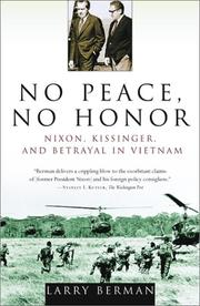 Cover of: No Peace, No Honor | Larry Berman