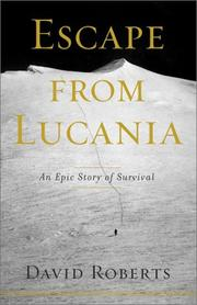 Cover of: Escape from Lucania  | David Roberts