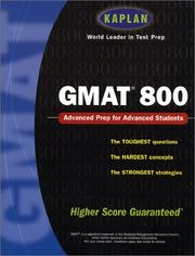 Cover of: Kaplan GMAT 800 | Kaplan Publishing