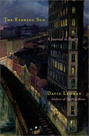 Cover of: The evening sun: a journal in poetry