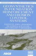 Cover of: Geosynthetics in foundation reinforcement and erosion control systems | Geo-Congress 98 (1998 Boston, Mass.)