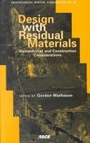 Cover of: Design with residual materials |