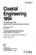 Cover of: Coastal engineering 1994 |