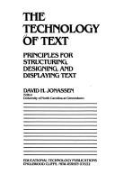 Cover of: Technology of Text | David H. Jonassen