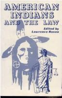 Cover of: American Indians and the law